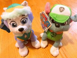 """2x Nickelodeon Paw Patrol Puppy Dog Rocky and Everest 9"""" Toy"""