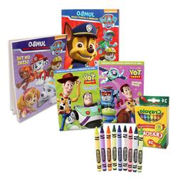4 children coloring activity books 24 crayons