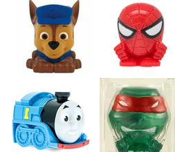 4 Mashems Fashems Paw Patrol Spiderman Thomas Train TMNT Nin