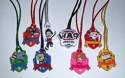 6 PAW PATROL PENDANT NECKLACE ON COLOR CORD PARTY FAVORS PRI