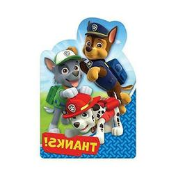 Amscan 8: Paw Patrol Thank You Shaped Postcards