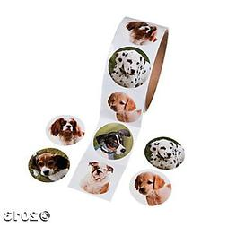 Fun Express Dog Roll Stickers - 100 Stickers