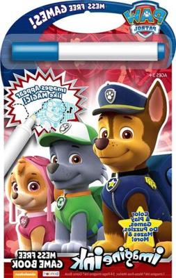 NEW 24pg Nickelodeon's Paw Patrol Imagine Ink Mess Free Game