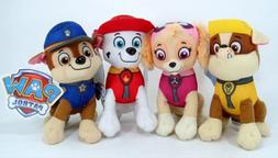 "New 8"" Paw Patrol Plush Stuffed Animal Toy Set: Chase, Rubbl"