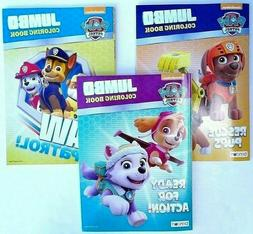 PAW PATROL Lot of 3 Jumbo Coloring and Activity Books for Ch