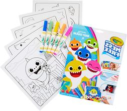 Crayola Baby Shark Wonder Pages, Mess Free Coloring Gift,