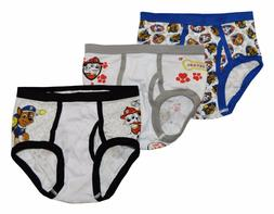 Paw Patrol Boys 3 Pack Assorted Color Underwear Briefs Size