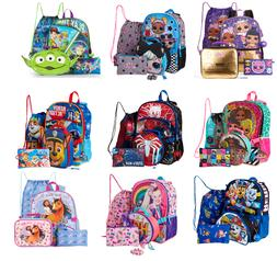 Boys Girls Backpack 5 Pcs Set,Lol,Spider-man,Jojo Spirit,Paw