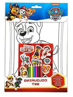 Paw Patrol Childrens Boys Girls Colouring Set Activity Set A