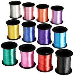 Curling ribbon assortment 60FT rolls  - Bulk