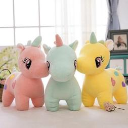 Cute Unicorn Plush Fluffy Stuffed Animal Lovely Cartoon Doll
