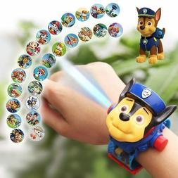 Paw Patrol Juguete 3D Projection Cartoon Watch Action Figure