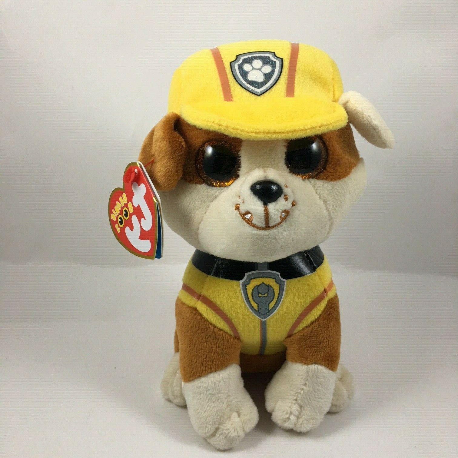 """TY 6"""" Paw RUBBLE the Bulldog Animal Toy MWMTs"""