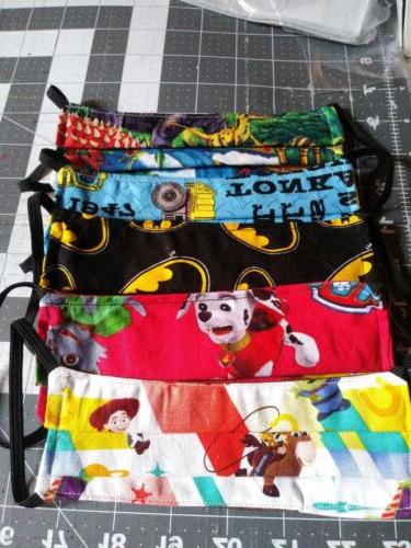 boys cloth face cover mask lot 5