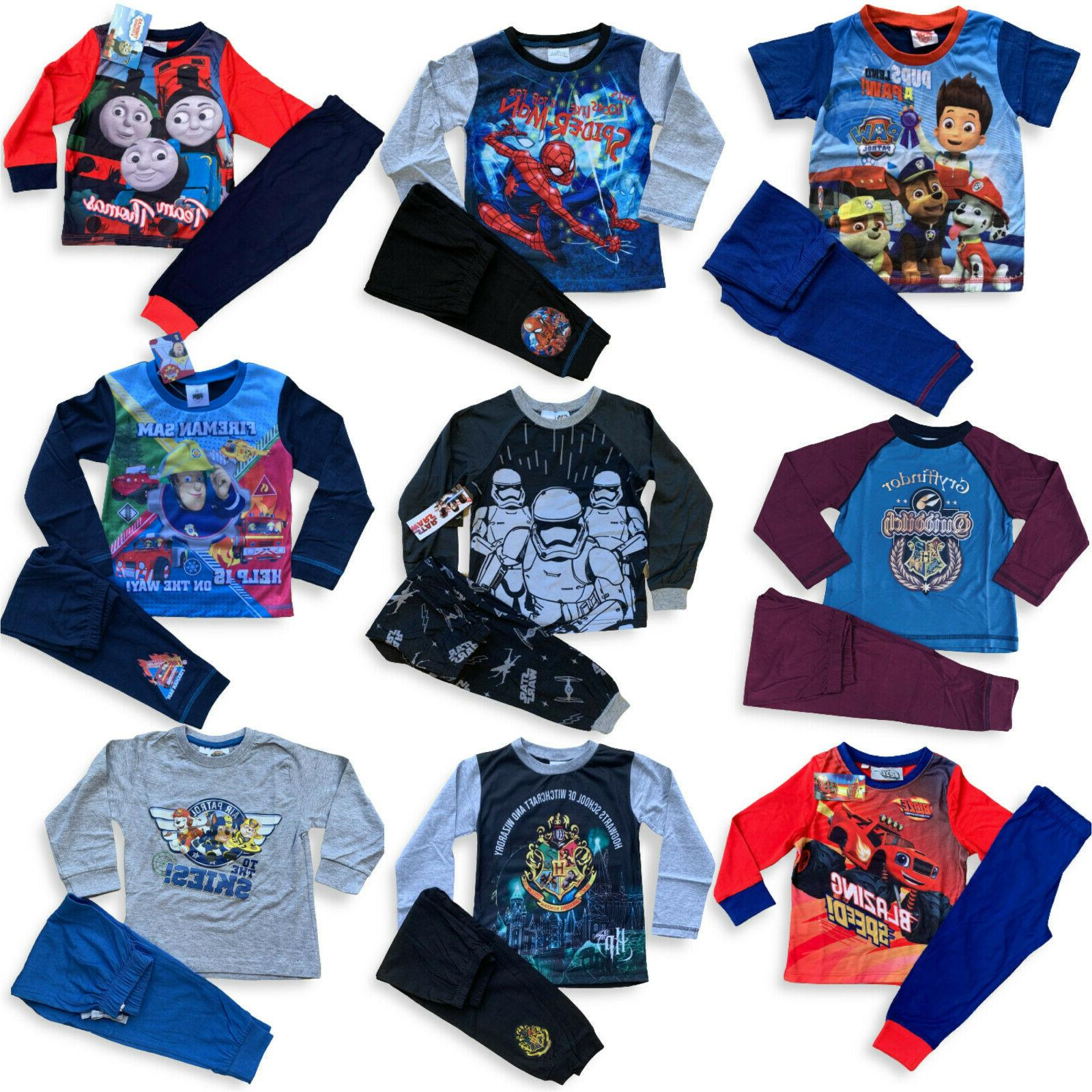 boys star wars paw patrol pyjamas long
