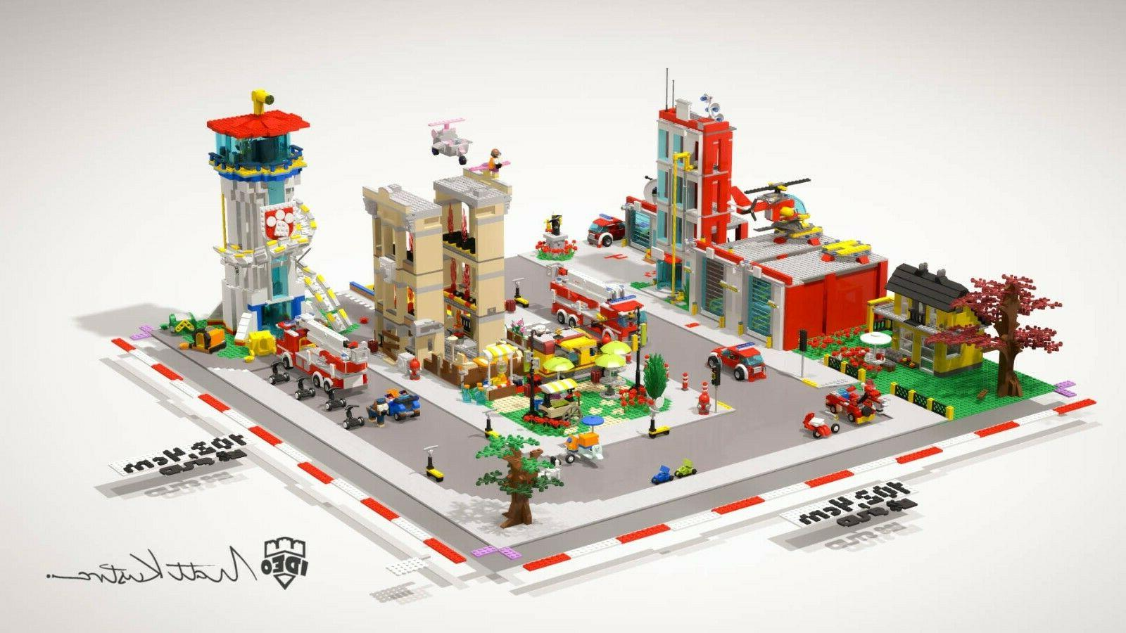 City bricks with 10ft2 by model building