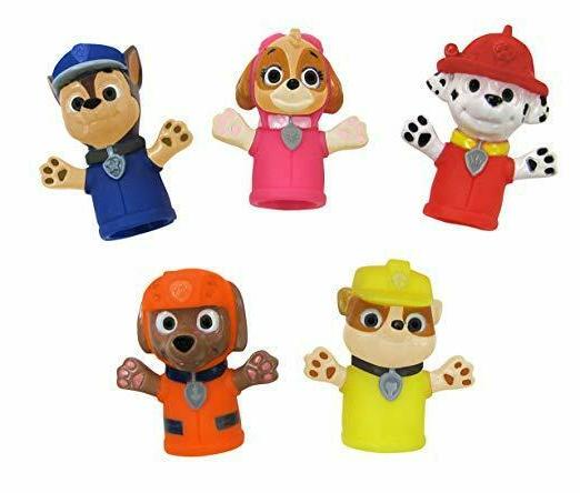 🚛Fast Shipping! {NEW} 5pc Paw Patrol Finger Puppets Bath