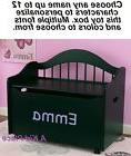 KIDKRAFT KIDS PERSONALIZED LIMITED EDITION WOODEN TOY BOX BE
