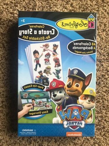 paw patrol create a story re stickable
