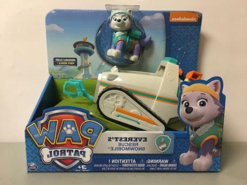 paw patrol everests rescue snowmobile vehicle