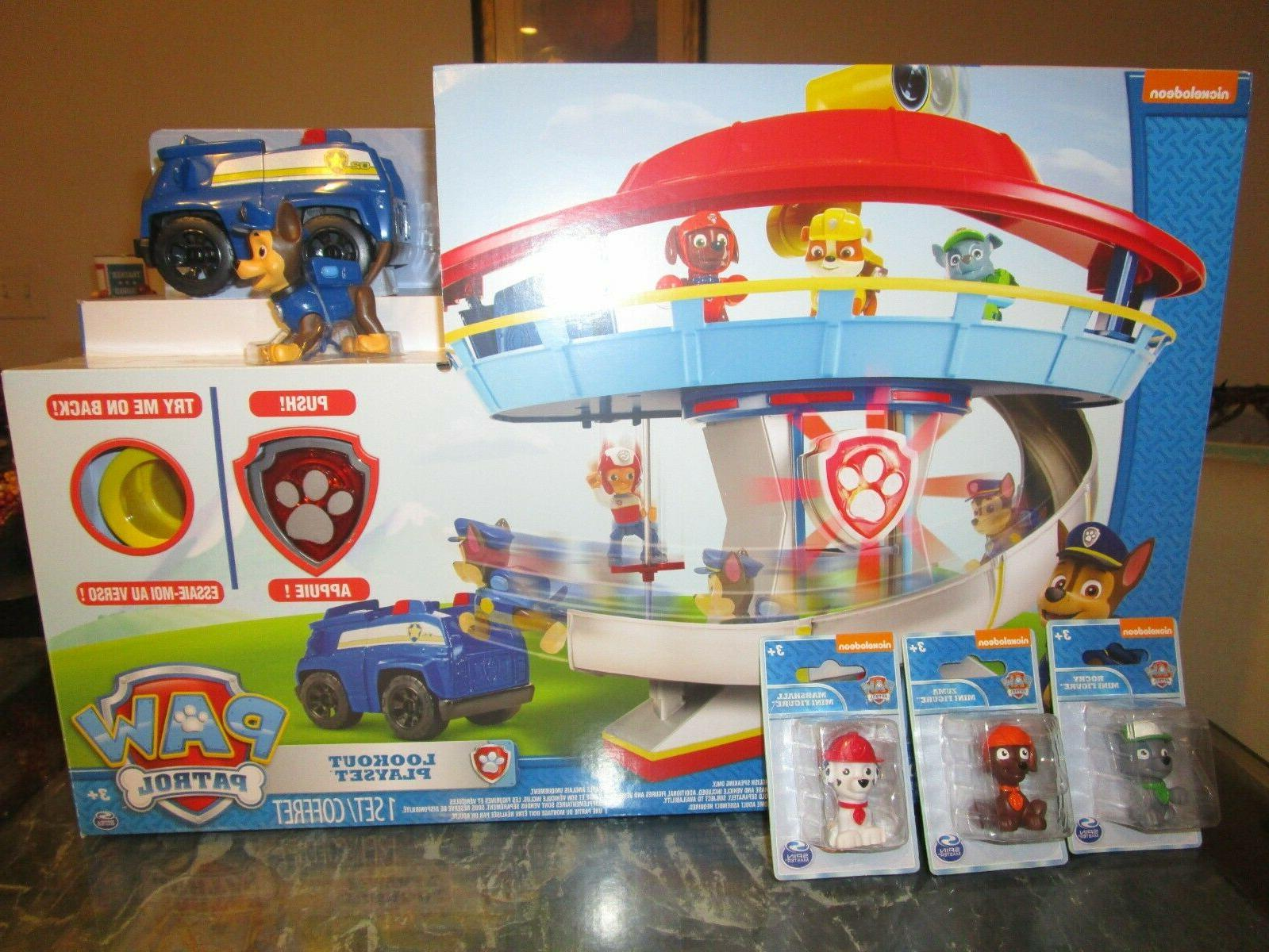 paw patrol lookout playset tower chase
