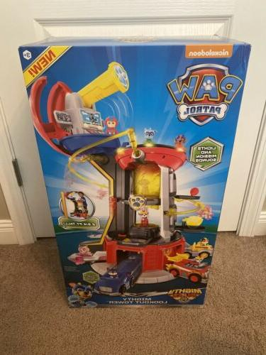 paw patrol lookout tower playset mighty pups