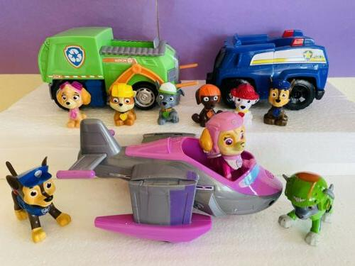 paw patrol lot figures and vehicles chase