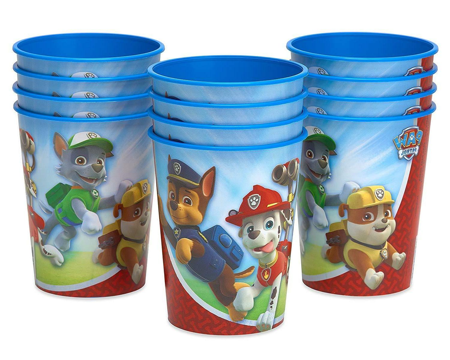 paw patrol plastic party cups