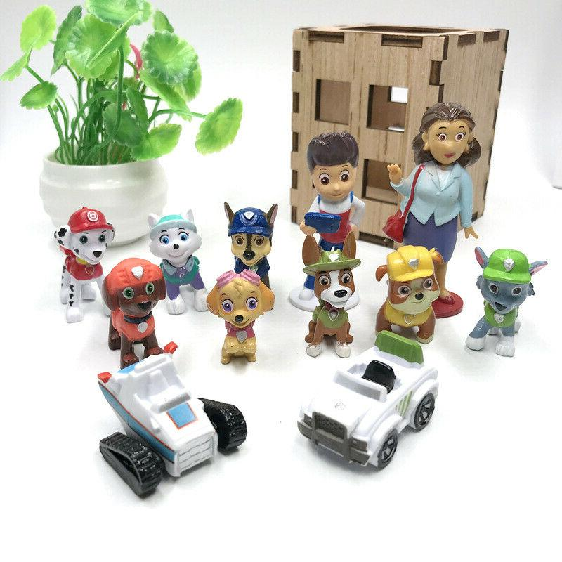 Paw Ryber Vehicles Cute Figure Cake Topper Toy
