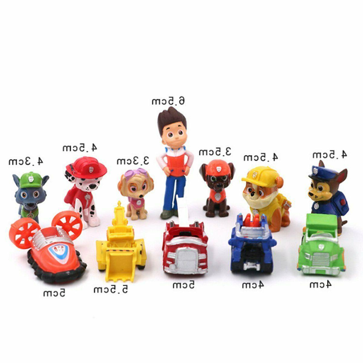 Paw Pups Vehicles Action Figure 12 pcs Topper Kid Toy