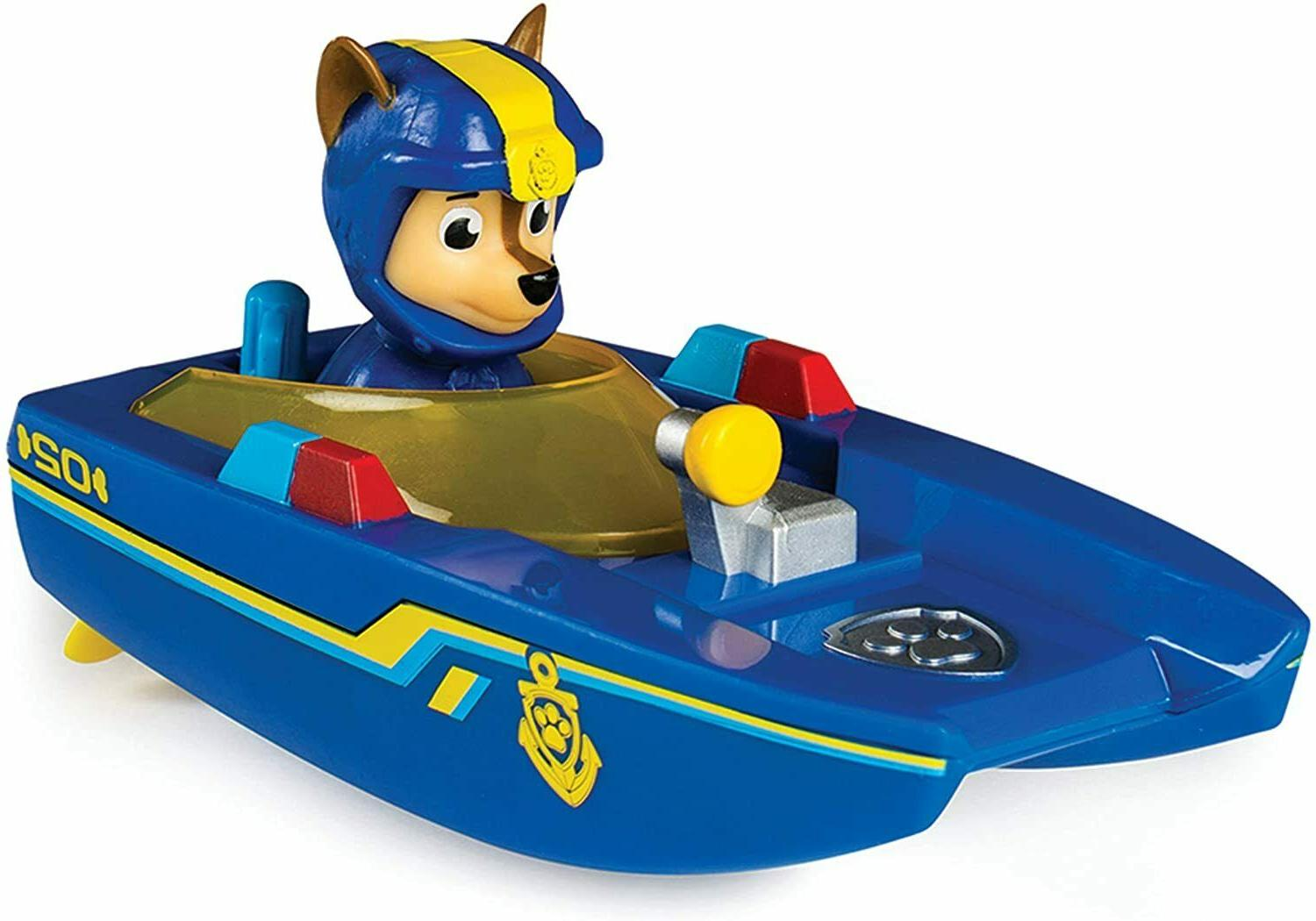 paw patrol sea water rescue boat chase