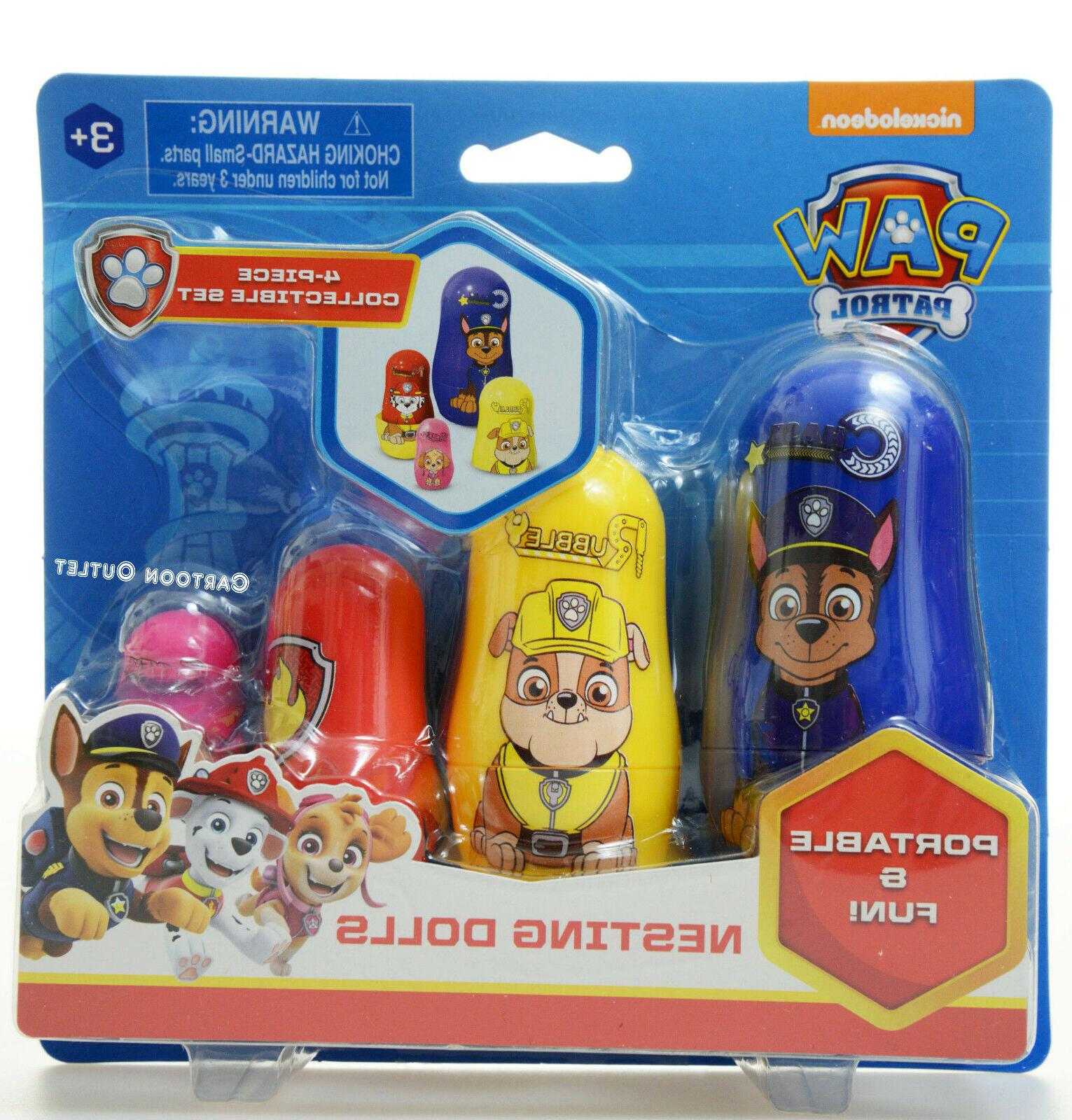 Paw Patrol Set of 4 Nesting Dolls Toys Nesting Eggs Collecti
