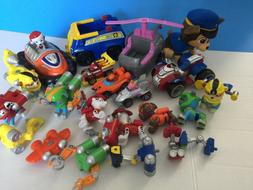 lot 27 mixed Paw Patrol Toys action figures vehicles race ca
