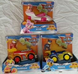 lot 3 pack PAW Patrol Mighty Pups Chase Marshall Skye Deluxe