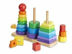 Melissa & Doug Geometric Stacker Wooden Educational Toy #567