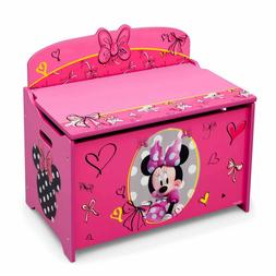 Disney Minnie Mouse Deluxe Wood Toy Box Pretty and Pink by D