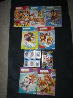 NEW! 14 pc Lot PAW PATROL Figures, Coloring Books & Colorfor