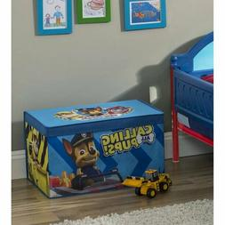 NEW Nick Jr Paw Patrol Fabric Toy Box / Storage Chest by Del