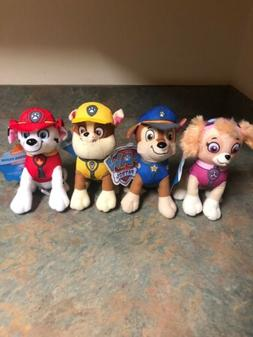 "New Nickelodeon Spinmaster 8"" Paw Patrol Plush Set Chase, Ru"