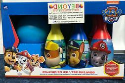 NEW PAW PATROL BOWLING SET TOY 6 PINS 1 BALL INDOOR & OUTDOO