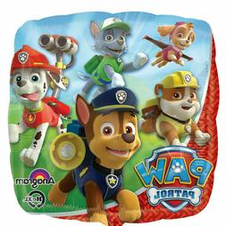 "Paw Patrol 18"" Square Rescue Dogs Chase Foil Mylar Happy Bir"