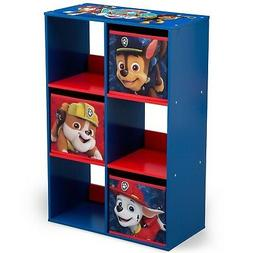 PAW Patrol 6 Cubby Storage Unit for Toys Games Books Kids Ro