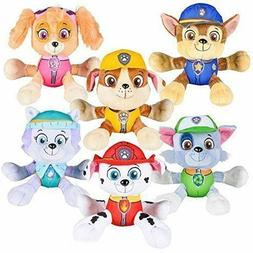 "Paw Patrol 6"" Plush Toy Set of 6  Marshall, Skye, Everest, R"