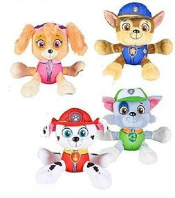 "Paw Patrol 6"" Plush Toy Set of 4 Marshall, Skye,Rocky and Ch"