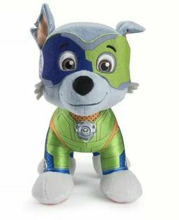 "Paw Patrol 7"" Mighty Pups Rubble OR Rocky Plush Walmart Excl"