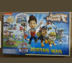 Paw Patrol 7 Wood Puzzles In Wooden Storage Box Brand New