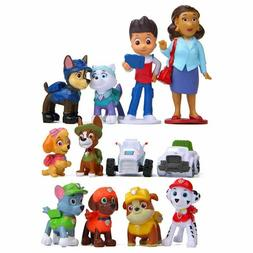 Paw Patrol Action Figures 12 PC Set Party Favors /Collectibl