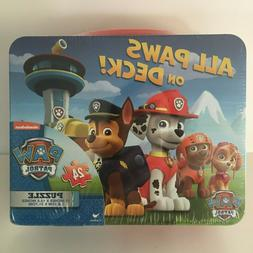 Paw Patrol All Paws on Deck Puzzle in Lunch Box Tin 24 Pcs.