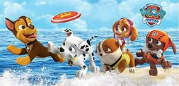 Paw Patrol Beach towel measures 28 x 58 inches
