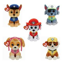 Paw Patrol Ty Beanie Soft Toy Various designs Rubble Skye Ro